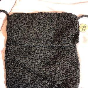 Black knit small purse. The SAK.